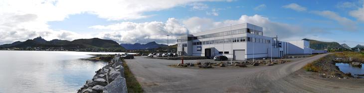 Insulas hovedkontor på Leknes i Lofoten, Norge.